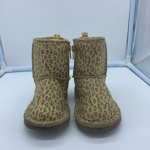 BABY GAP size 8 girls leopard print mid boots